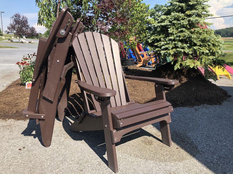 Merveilleux Poly Folding U0026 Reclining Adirondack Chairs: Brown